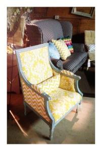 Yellow Chevron Chair